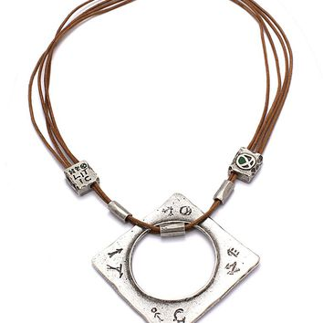 Aura of the Earth Medallion Necklace