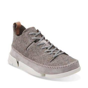 Trigenic Wool Grey Felt - Clarks Mens Shoes - Lace-ups and Slip-ons - Clarks - Clarks® Shoes