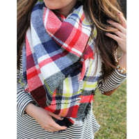 Harper Plaid Blanket Scarf