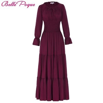 Belle Poque 2017 Medieval Dress Cotton Long Maxi Dresses Gowns V 1f91a5a5acda