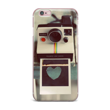 "Cristina Mitchell ""Polaroid Love"" Teal Camera iPhone Case"