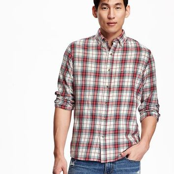 Old Navy Mens Slim Fit Tartan Shirts
