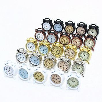 20PCS/LOT Hot Mini Clocks Dollhouse Miniature 1:12 Accessories