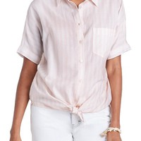 Madewell Stripe Tie Front Blouse   Nordstrom
