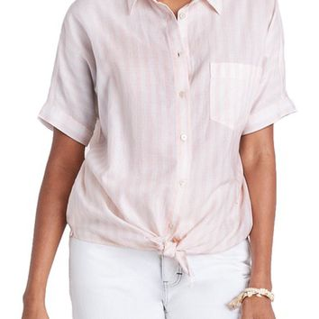 Madewell Stripe Tie Front Blouse | Nordstrom