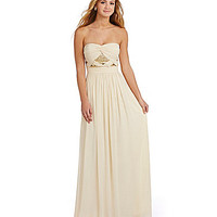 GB Sequin-Front Gown - Champagne