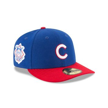 Chicago Cubs New Era Two Tone Patched Low Crown 59Fifty Fitted Hat