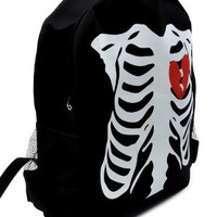 Rib Cage Skeleton Backpack Deathrock Gothic School Bag