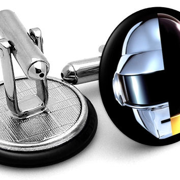 Daft Punk Split Helmets Cufflinks