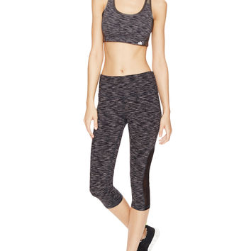 Alo Yoga Lovelies Athletic Capri - Black - Size XS