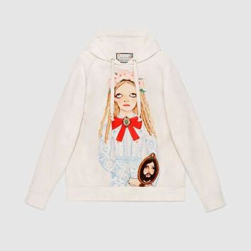 GUCCI Unskilled Worker Hooded Sweatshirt