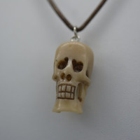 Skull Necklace, Halloween Necklace, Halloween Jewelry, Skull Jewelry