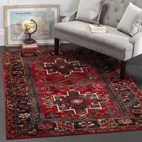 Safavieh Vintage Hamadan Traditional Red/ Multi Rug (7' x 7') | Overstock.com Shopping - The Best Deals on Round/Oval/Square