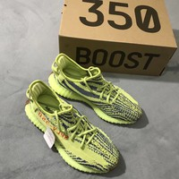 Adidas Yeezy 350 V2 Fluorescent green Sneakers Running Sports Shoes