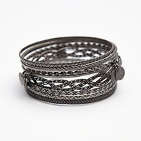Free People Womens Coin Drop Bangle Set -