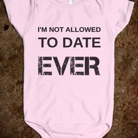 Supermarket: I'm Not Allowed To Date Baby Onesuit from Glamfoxx Shirts