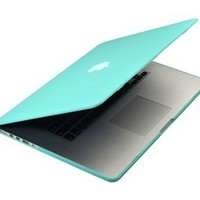 """MacBook Pro 13 Retina Case (NO CD-ROM Drive), Mosiso Soft-Touch Plastic Hard Case Cover for MacBook Pro 13.3"""" with Retina Display A1502 / A1425 (NEWEST VERSION) with One Year Warranty (Hot Blue)"""