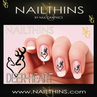 20 DEER HEART NAILTHINS  Nail Decals  Nail Art   Nail Design