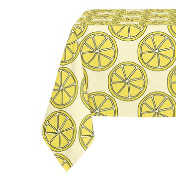 LEMON SLICES PATTERN Table Cloth By Northern Whimsy