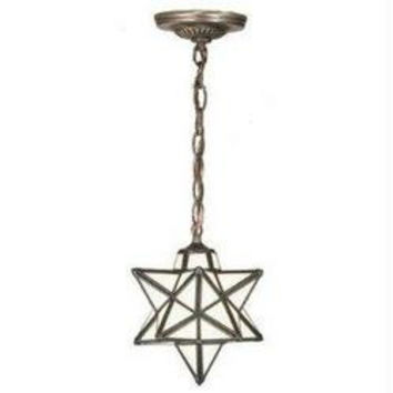 9 Inch W Moravian Star Mini Pendant Ceiling Fixture