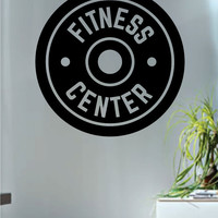 Fitness Center Gym Design Decal Sticker Wall Vinyl Art Home Room Decor