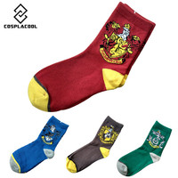 [COSPLACOOL]New women/students Printed Socks Casual cotton unisex socks Harry potter cosplay socks harry potter school meias sox