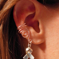 Set of 3 Pale Pink Ear Cuffs Breast Cancer by jhammerberg on Etsy