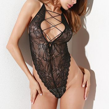 Ladies Women's Fashion Sexy Lace One-piece [13244301315]