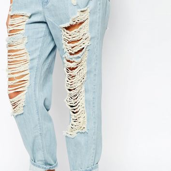 WAVEN Extreme Distressed Boyfriend Jeans