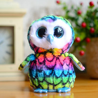 Ty Big Eyes Beanie Boos Kids Plush Toys Colorful Owl Lovely Children's Gifts Kawaii Cute Stuffed Animals Dolls Christmas Present
