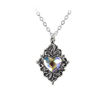 Alchemy Gothic Crystal Heart Pendant Necklace