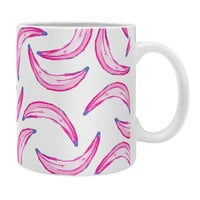Lisa Argyropoulos Gone Bananas Pink on White Coffee Mug