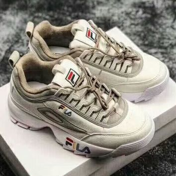 FILA FMC CROSSOVER-JET New fashion sports running couple shoe White