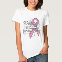 Breast Cancer Wearing a Ribbon for My Hero Tshirt