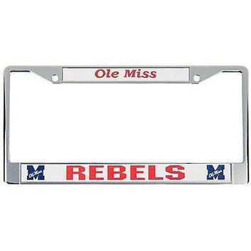 IFSB-RICFC160202-NCAA Ole Miss Rebels Chrome Plate Frame