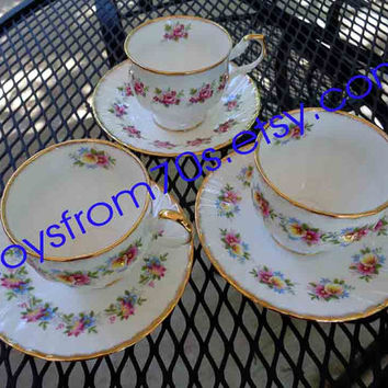 Vintage Queens Rosina Cup and Saucer England Rosina China Ltd