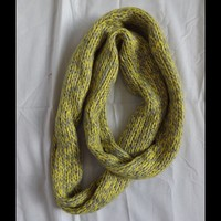 YELLOW & GRAY INFINITY SCARF