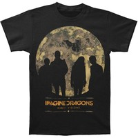 Imagine Dragons Men's  Night Visions 2013 Tour Slim Fit T-shirt Black