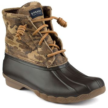 Women's Saltwater Duck Boot in Camo by Sperry