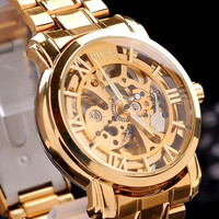 Swiss mechanical watches 2015 Swiss mechanical watch high-grade men and women type watch Golden Strip Watch01-0060049 (Color: Gold) = 1956621508