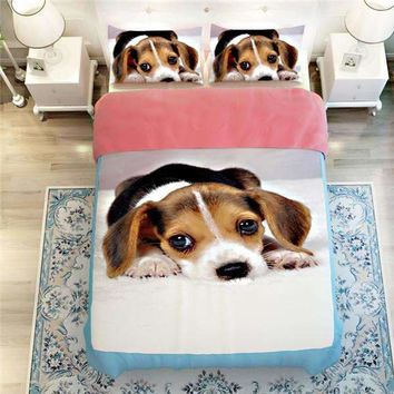 Adorable Beagle Puppy Bedding Set