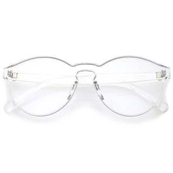 Mono Block Rimless PC Color Tone Lens Sunglasses A555