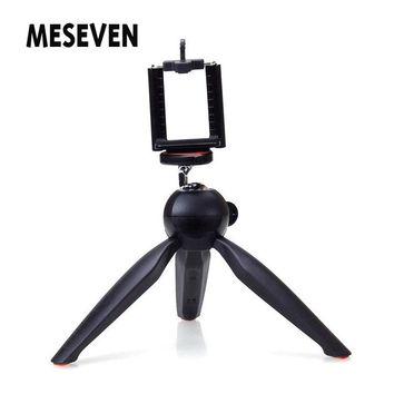 Mini Tripod+Phone Holder Clip Desktop Tripod for Smart Home Projector Digital Camera Mobile Phone etc.