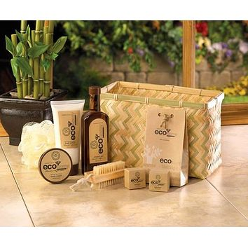Bamboo Sugarcane Spa Set