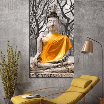 1pc buddha art canvas painting Wall art abstract buddha meditation painting Picture Canvas poster Modern living room Decorative
