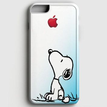 Snoopy Gradient Pink Mint Custome Apple Logo iPhone 6 Plus/6S Plus Case