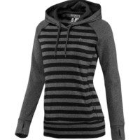 adidas Women's Ultimate Fleece Striped Hoodie | DICK'S Sporting Goods