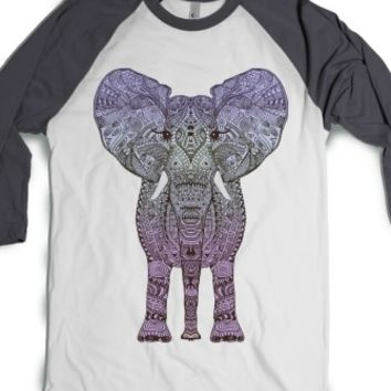 Purple Aztec Elephant-Unisex White/Asphalt T-Shirt
