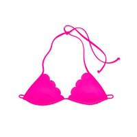 Scalloped Triangle Bikini Top - PINK - Victoria's Secret