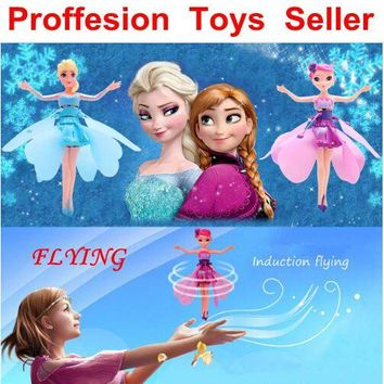 2017 Hot Sale Fly Ice Plincess Induction Fly Toys Remote Control RC Helicopter Flying Quadcopter Drone Kids Toy Best Gifts